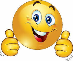 smile icon with two thumbs up